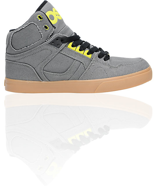 Osiris NYC 83 VLC Charcoal, Lime & Gum Shoes