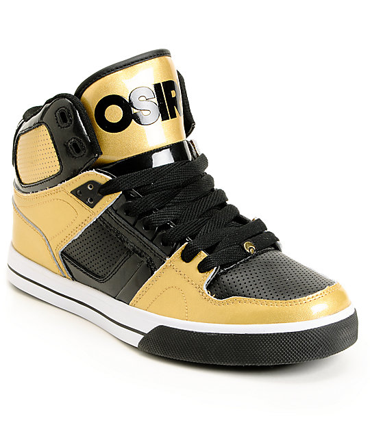 Osiris NYC 83 VLC Gold & Black Shoes