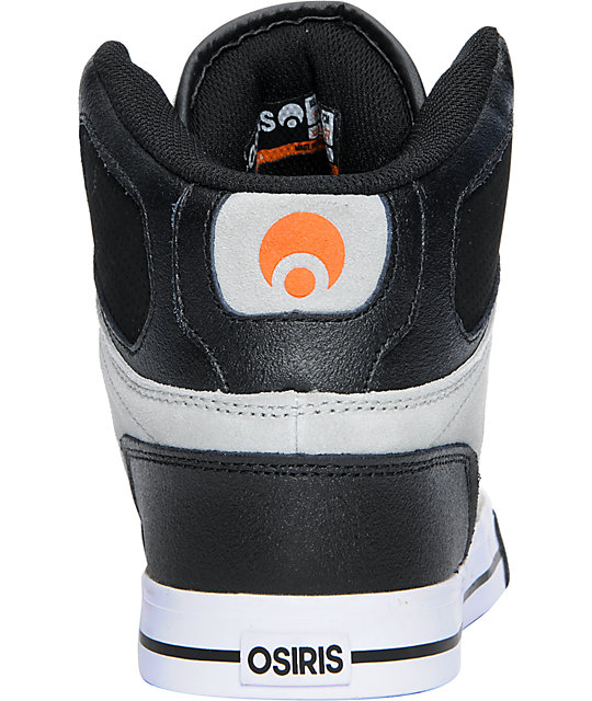 Osiris NYC 83 VLC Grey, Black & Orange Shoes