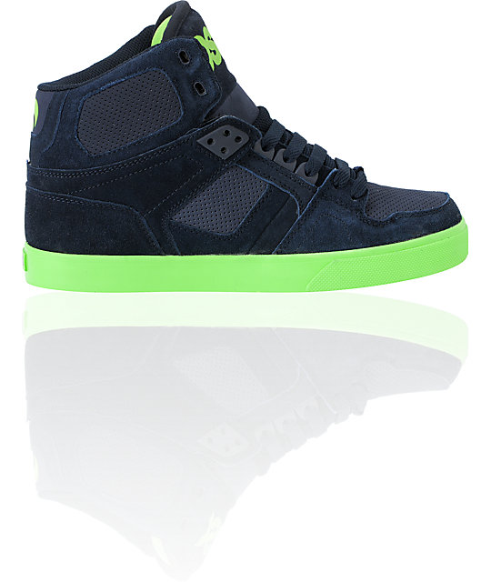 Osiris NYC 83 VLC Navy & Lime Skate Shoes