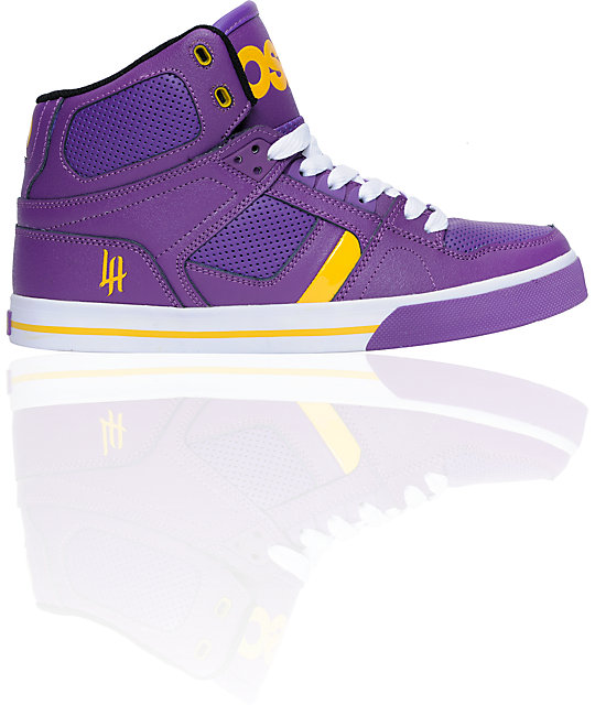 Osiris NYC 83 VLC Purple, Yellow & White Shoes