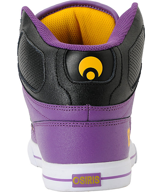 Osiris NYC 83 Vulc Baller Series Purple, Black & Yellow Shoes