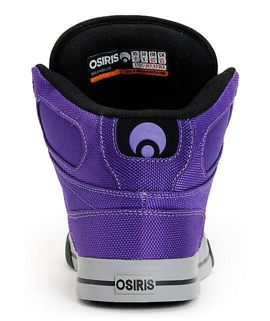 Osiris NYC 83 Vulc Ballistic Purple & Black Skate Shoes