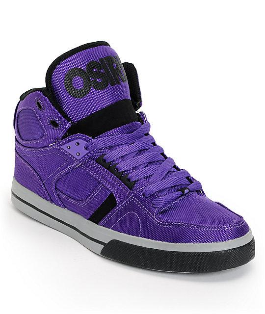 Purple Skate Shoes High Tops