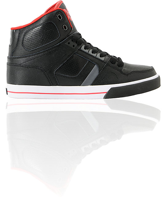 Osiris NYC 83 Vulc Black & Red Shoes