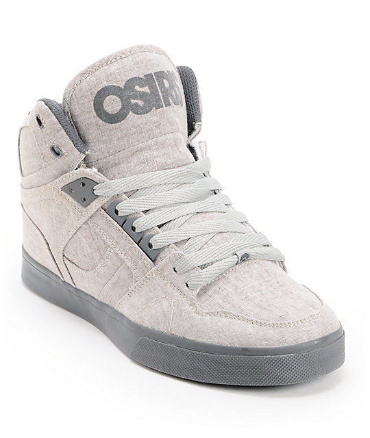 Osiris NYC 83 Vulc Cement Linen & Grey Skate Shoes