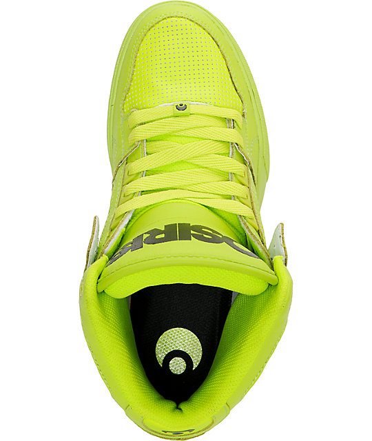Osiris NYC 83 Vulc Lime Green High Top Shoes
