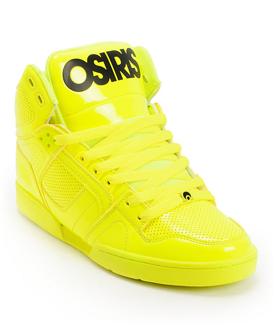 Osiris NYC 83 Yellow Blacklight Skate Shoes