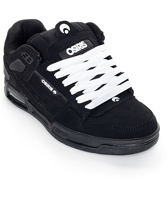 Osiris Peril Black & Black Skate Shoe