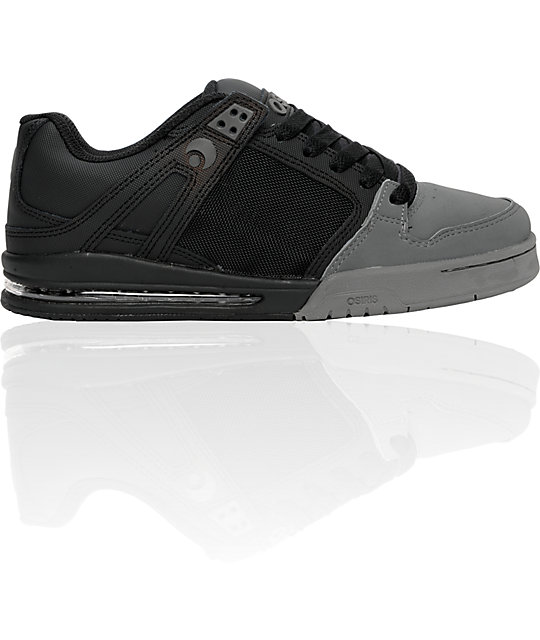 Osiris Pixel Black & Charcoal Shoes