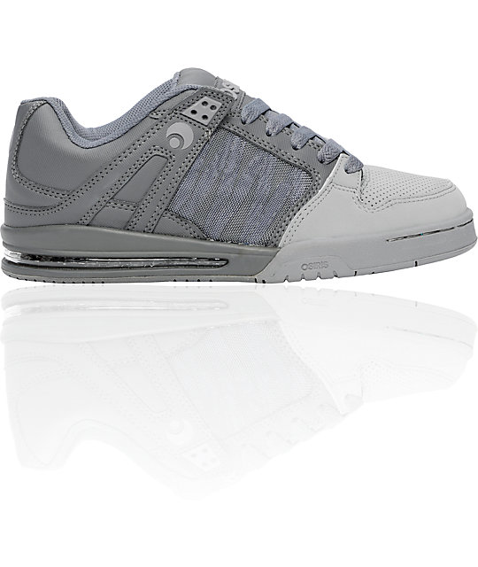 Osiris Pixel Grey, Charcoal, & Silver Shoes