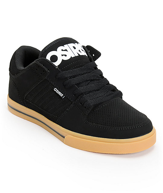 Osiris Protocol Black, White, & Gum Skate Shoes