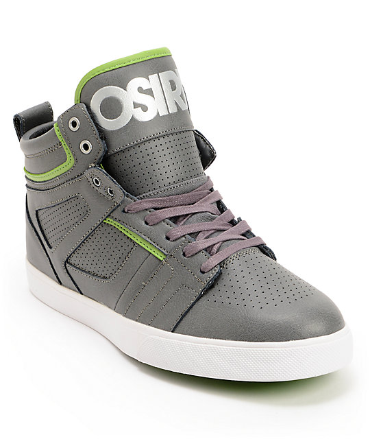 Osiris Raider Charcoal, Leaf Green & Black Skate Shoes
