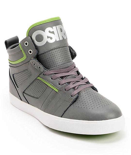Osiris Raider Charcoal, Leaf Green & Black Skate Shoes