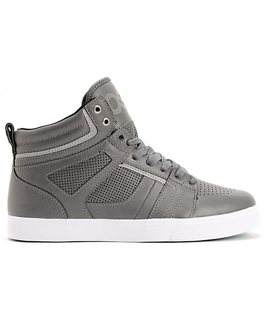 Osiris Raider Charcoal, Silver & White Skate Shoes