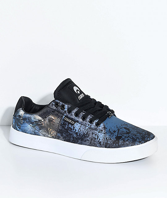 Osiris Rebound VLC Huit Skull Army Skate Shoes