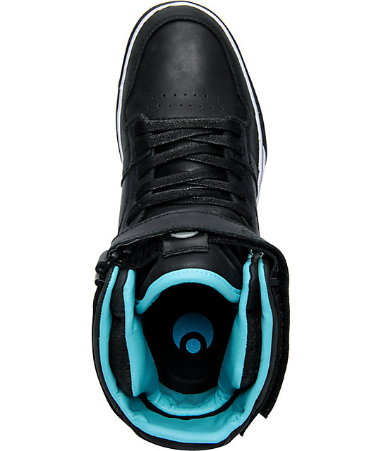 Osiris Rhyme Remix Black, Teal & White Shoes