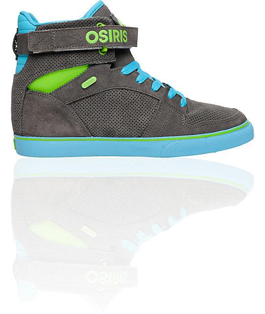 Osiris Rhyme Remix Grey, Blue & Green Shoes