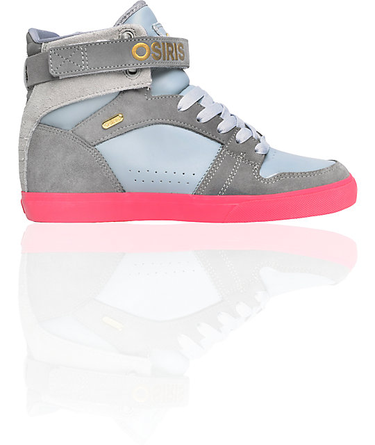 Osiris Rhyme Remix Grey & Pink Shoes
