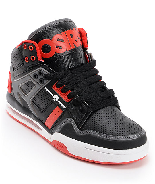 Osiris Rucker Black & Red Skate Shoes