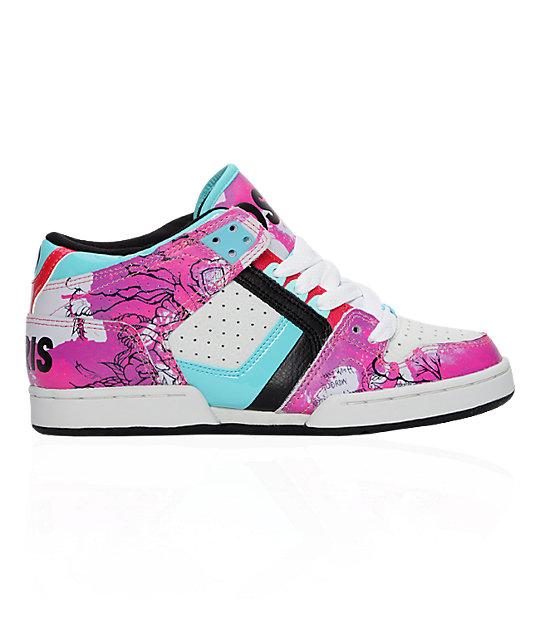 osiris south bronx pink shoes