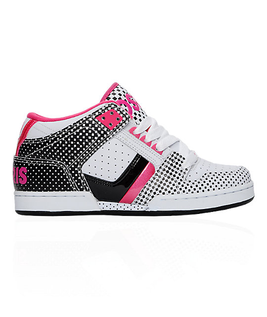 Osiris South Bronx White, Black & Pink Shoes