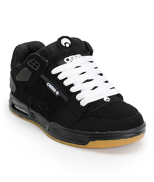 Osiris The Peril Black, White, & Gum Skate Shoes