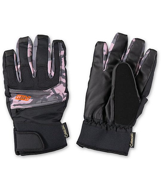POW Sniper GTX Black & Camo GORE-TEX Snowoboard Gloves