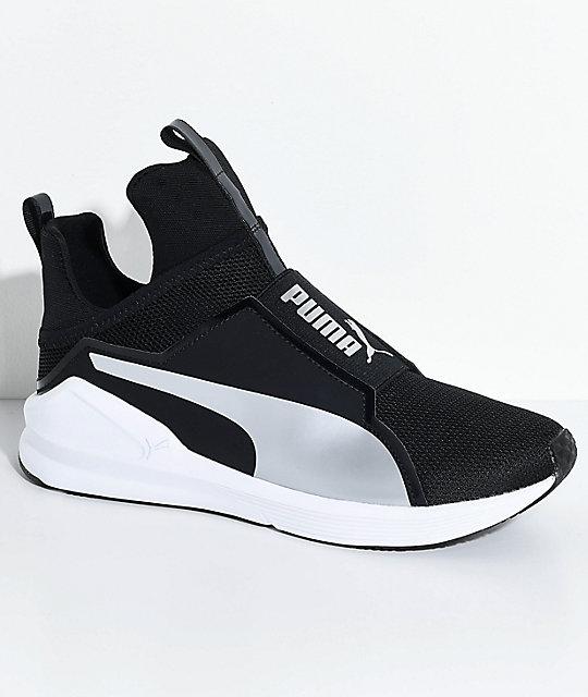 puma fierce core black silver shoes zumiez. Black Bedroom Furniture Sets. Home Design Ideas