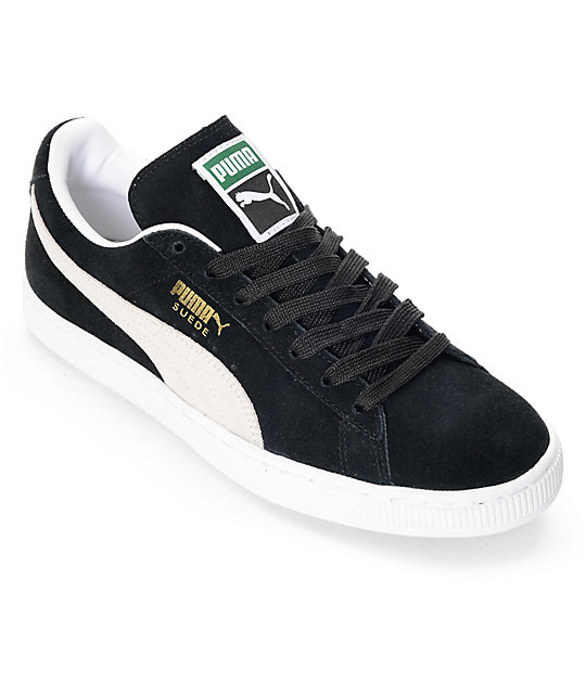 suede classic black shoes zumiez