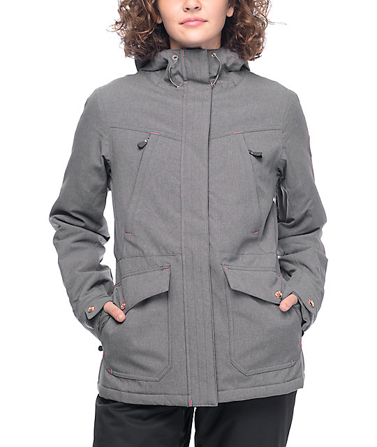 Exceptional Powder Room Snowboard Jackets Part - 3: PWDR Room Becca Grey Textured Snowboard Jacket