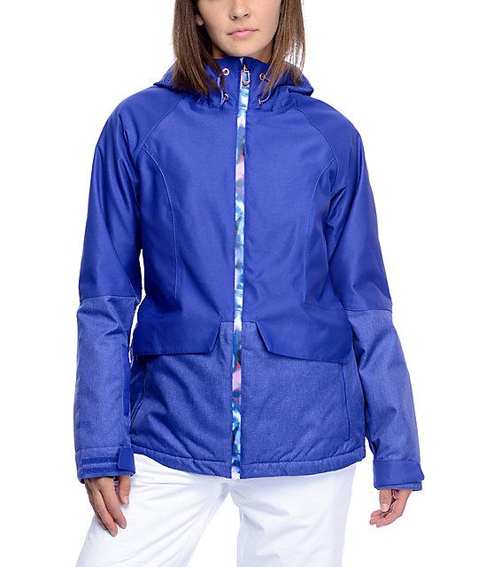 PWDR Room Bethany Royal Blue Softshell Snowboard Jacket