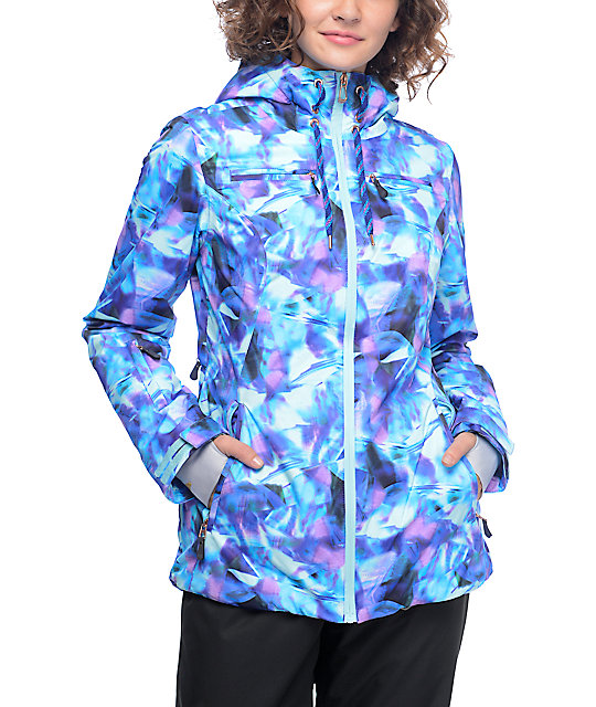 PWDR Room Brandy Flare Print Snowboard Jacket