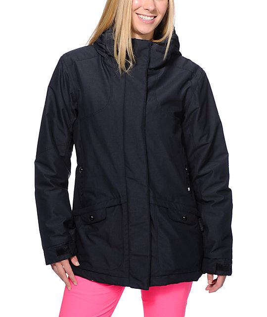 PWDR Room Hotel Print Black 5K Snowboard Jacket