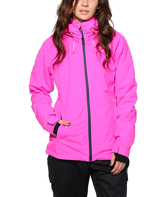 Powder Room Snowboard Jackets Part - 15: PWDR Room Phantom Candy Pink 10K Snowboard Jacket ...
