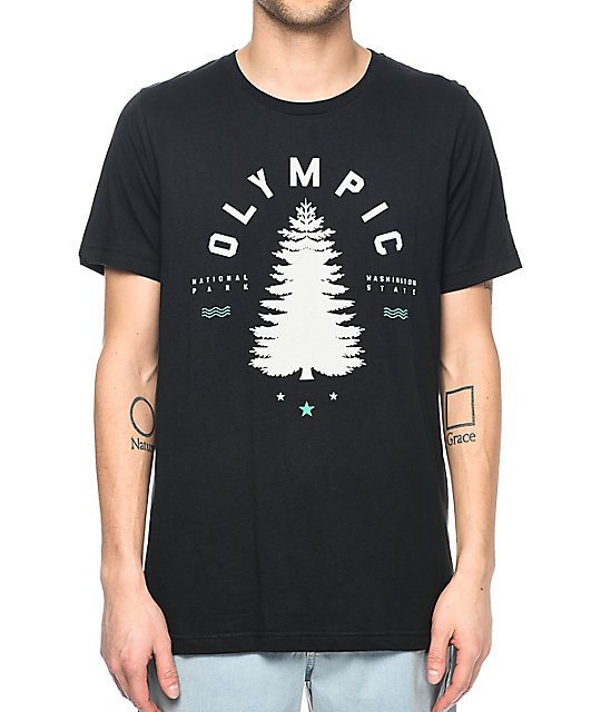 Parks Project WA Olympic Tree Black T-Shirt