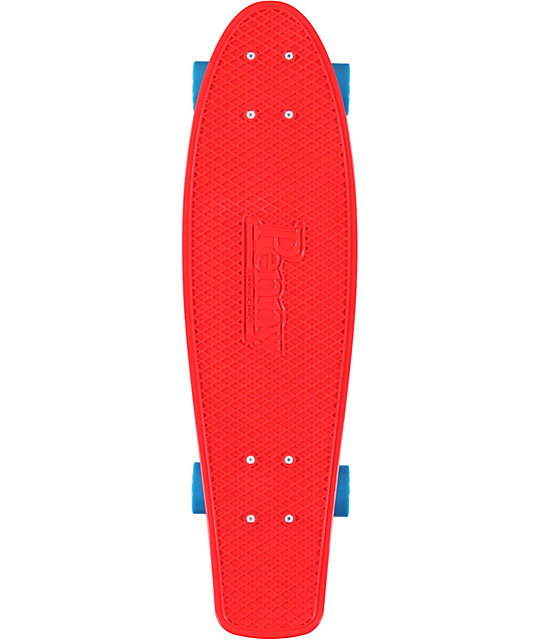 "Penny Nickel Red, Blue, & White 27""  Cruiser Complete Skateboard"