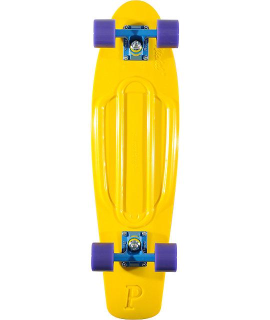 "Penny Nickel Yellow & Purple 27""  Cruiser Complete Skateboard"
