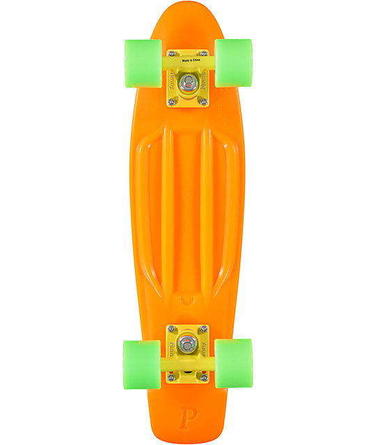 "Penny Original Fluorescent Orange 22.5""  Cruiser Complete Skateboard"