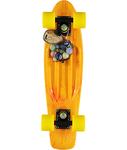 "Penny Original LTD Marble Orange 22""  Cruiser Complete Skateboard"