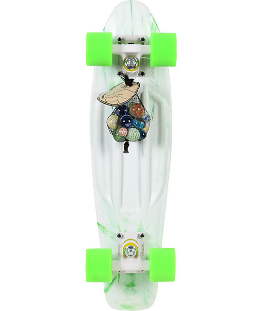 "Penny Original LTD Marble White 22""  Cruiser Complete Skateboard"