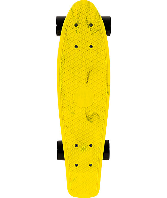 "Penny Original LTD Marble Yellow 22""  Cruiser Complete Skateboard"