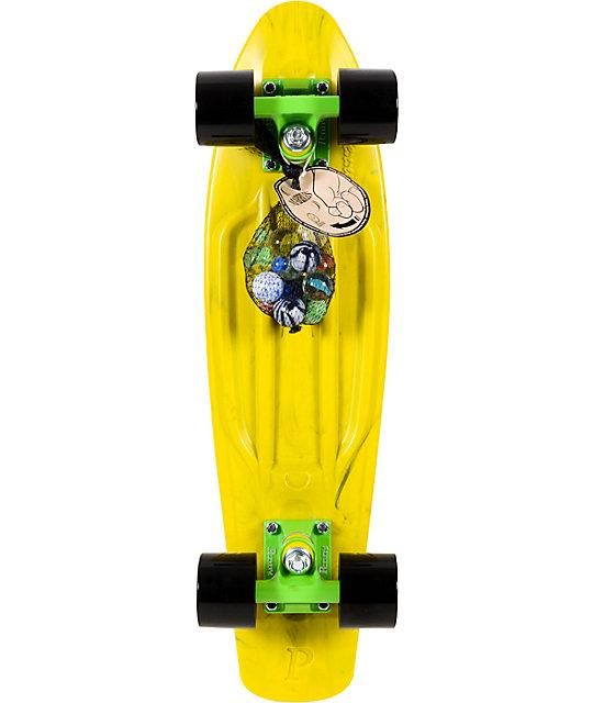 "Penny Original LTD Marble Yellow 22""  Cruiser Complete Skateboard"