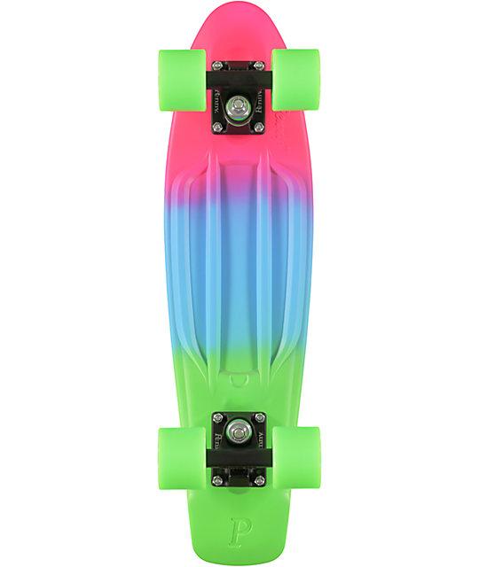 "Penny Original Pink, Blue, & Green Fade 22.5""  Cruiser Complete Skateboard"