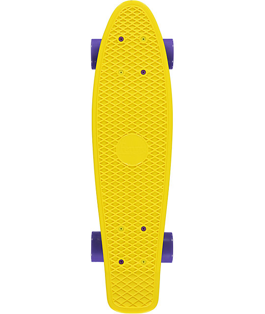 "Penny Original Yellow & Purple 22.5""  Cruiser Complete Skateboard"