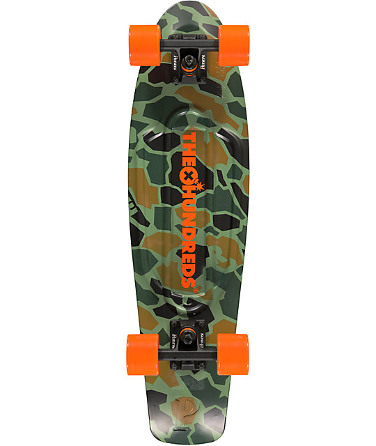 "Penny X The Hundreds Nickel Camo 27""  Cruiser Complete Skateboard"
