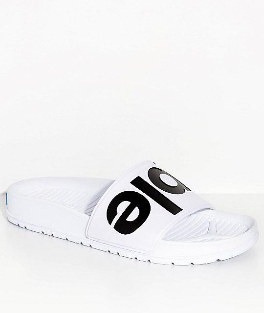 People Footwear Lennon Yeti White Slide Sandals