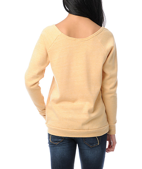 Petal To The Metal Vandal Yellow Crew Neck Sweatshirt