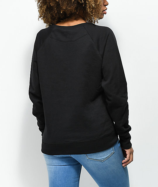 Petals by Petals & Peacocks x Champion Black Crew Neck Sweatshirt