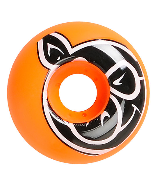 Pig Head 53mm Neon Orange Skateboard Wheels